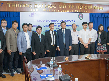 อธิการบดีลงนาม MoU กับ HCMCOU มหาวิทยาลัยเปิดที่ใหญ่ที่สุดในเขตภาคกลาง-ใต้ของเวียดนาม
