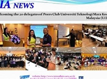 Welcoming the 20 delegates of Peers Club Universiti Teknologi Mara Kedah Malaysia (UiTM)