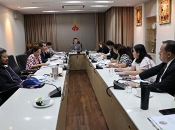 ประชุมการจัดทำแผนบริหารทรัพยากรบุคคลและแผนพัฒนาบุคลากร รวมทั้งแผนประชาสัมพันธ์เชิงรุก ระยะ 5 ปี (พ.ศ.2560-2564)และประจำปีงบประมาณ 2563 ของสำนักงานอธิการบดี