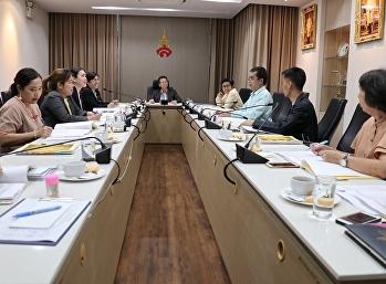 ประชุมคณะกรรมการบริหารสำนักงานอธิการบดี ร่วมพิจารณาแผนต่างๆของสำนักงานอธิการบดี ประจำปีงบประมาณ 2563