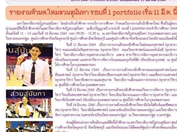 Kaew Chao Chom News No. 2447 on March 11, 2021
